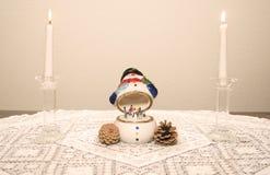 Muñeco de nieve de la música fotos de archivo libres de regalías
