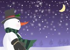 Muñeco de nieve de la Navidad fotografía de archivo