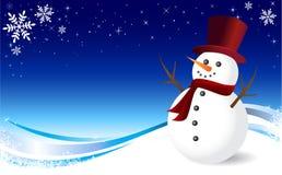 Muñeco de nieve de la Navidad ilustración del vector