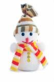 Muñeco de nieve de la Navidad Fotografía de archivo libre de regalías