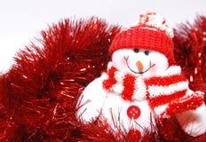 Muñeco de nieve de la Navidad Imagen de archivo libre de regalías