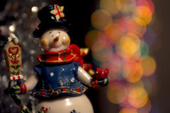 Muñeco de nieve de la Navidad Foto de archivo libre de regalías
