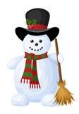 Muñeco de nieve de la Navidad. stock de ilustración