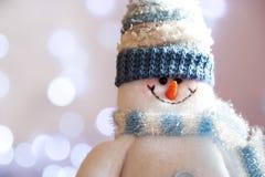 Muñeco de nieve de la Navidad Imágenes de archivo libres de regalías