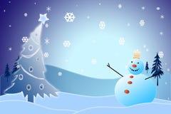 Muñeco de nieve de la Navidad Fotos de archivo