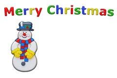 Muñeco de nieve de la Navidad con el espacio de la copia Foto de archivo libre de regalías