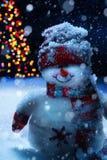 Muñeco de nieve de la Navidad del arte fotos de archivo