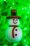 Muñeco de nieve de la sonrisa Imagen de archivo libre de regalías