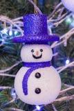 Muñeco de nieve de la sonrisa Fotografía de archivo