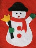 Muñeco de nieve de las lanas Foto de archivo