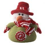 Muñeco de nieve de las lanas Imagen de archivo