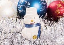 Muñeco de nieve de los ornamentos del Año Nuevo Imagen de archivo