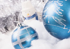 Muñeco de nieve de los ornamentos del Año Nuevo Fotos de archivo
