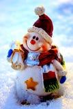 Muñeco de nieve de los posts Foto de archivo