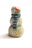 Muñeco de nieve de madera Fotos de archivo libres de regalías