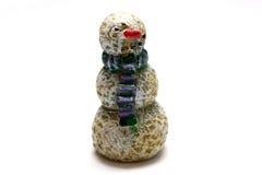 Muñeco de nieve de madera Foto de archivo