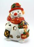 Muñeco de nieve de Navidad Fotografía de archivo