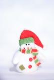 Muñeco de nieve decorativo del juguete de la Navidad Fotografía de archivo