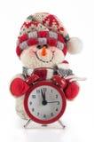 Muñeco de nieve del Año Nuevo y de Chrismas Fotos de archivo