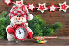 Muñeco de nieve del Año Nuevo y de Chrismas Foto de archivo