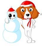 Muñeco de nieve del beagle Foto de archivo libre de regalías