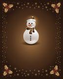 Muñeco de nieve del chocolate de la Navidad Fotos de archivo