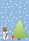Muñeco de nieve del día de fiesta Imagen de archivo