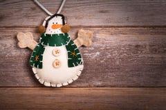 Muñeco de nieve del fieltro Imagen de archivo