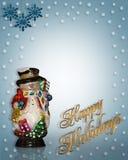 Muñeco de nieve del fondo de la Navidad stock de ilustración