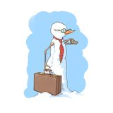 Muñeco de nieve del hombre de negocios Foto de archivo libre de regalías