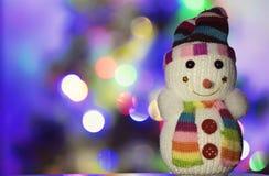 Muñeco de nieve del juguete fotografía de archivo