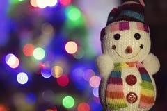 Muñeco de nieve del juguete fotos de archivo