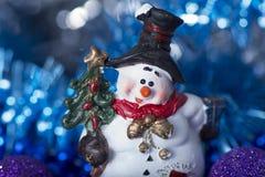 Muñeco de nieve del juguete Imagen de archivo libre de regalías