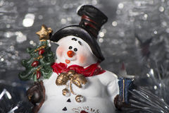 Muñeco de nieve del juguete Imagenes de archivo