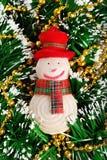 Muñeco de nieve del juguete del Año Nuevo y de la Navidad Foto de archivo libre de regalías