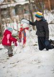 Muñeco de nieve del molde de los niños Imágenes de archivo libres de regalías
