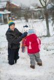 Muñeco de nieve del molde de los niños Imagenes de archivo