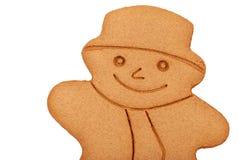 Muñeco de nieve del pan de jengibre Imagenes de archivo