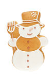 Muñeco de nieve del pan de jengibre Foto de archivo