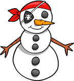 Muñeco de nieve del pirata del día de fiesta Fotografía de archivo libre de regalías