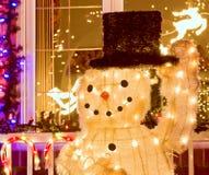 Muñeco de nieve del sombrero superior Fotos de archivo