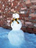 Muñeco de nieve del vaquero Imagenes de archivo