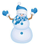 Muñeco de nieve del vector Foto de archivo libre de regalías