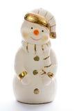 Muñeco de nieve del yeso Fotografía de archivo