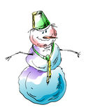 Muñeco de nieve divertido foto de archivo
