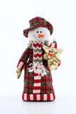 Muñeco de nieve divertido Foto de archivo libre de regalías