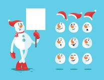 Muñeco de nieve divertido Conjunto del vector de la historieta ilustración del vector