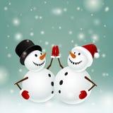 Muñeco de nieve dos Imagen de archivo libre de regalías