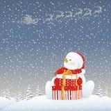 Muñeco de nieve el Nochebuena Imágenes de archivo libres de regalías