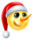 Muñeco de nieve Emoji Fotografía de archivo libre de regalías